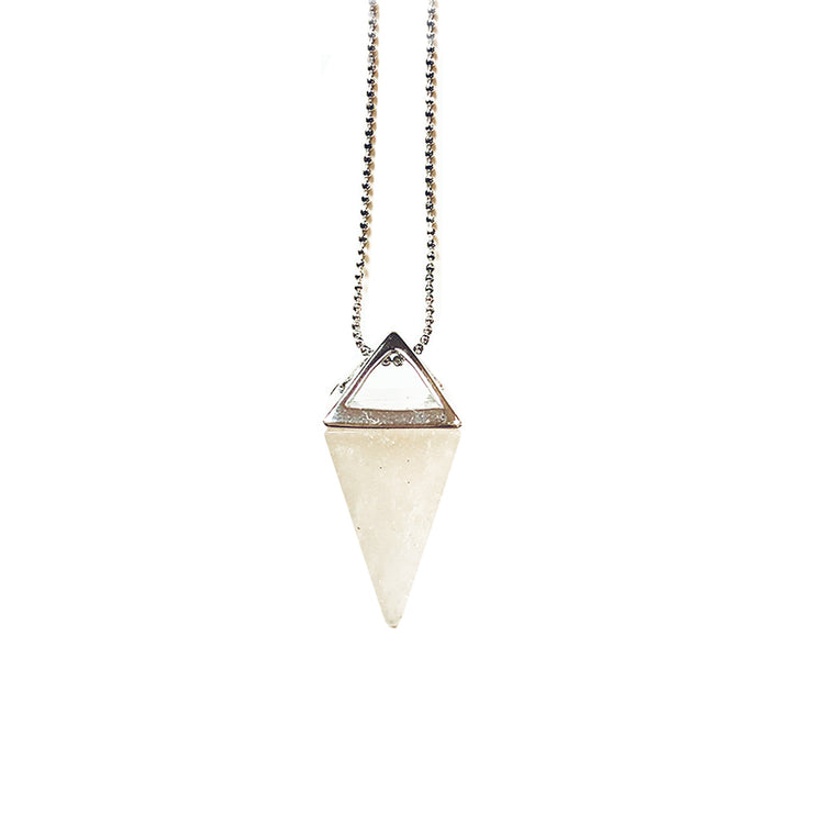Positivity Pyramid (silver), Triangle Pendant- Conscious Crystals, healing crystal jewellery, crystal pendants uk, crystal meanings