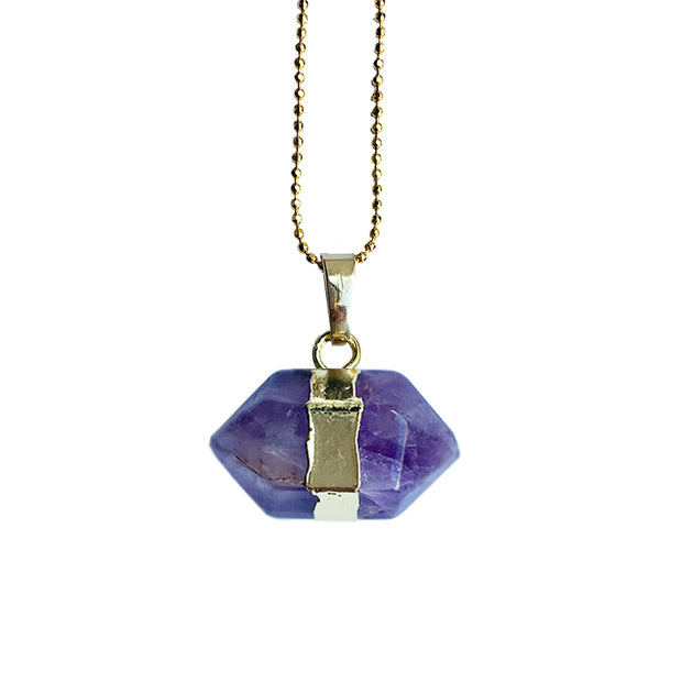 Peace Hexagon (gold), PENDANT- Conscious Crystals, healing crystal jewellery, crystal pendants uk, crystal meanings