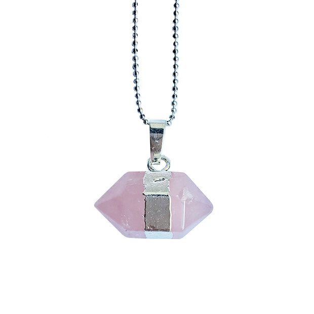 Love Hexagon (silver), PENDANT- Conscious Crystals, healing crystal jewellery, crystal pendants uk, crystal meanings