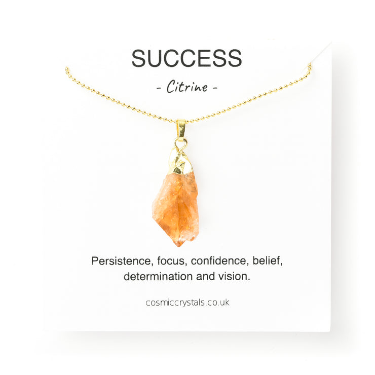Raw Success Necklace, PENDANT- Conscious Crystals, healing crystal jewellery, crystal pendants uk, crystal meanings