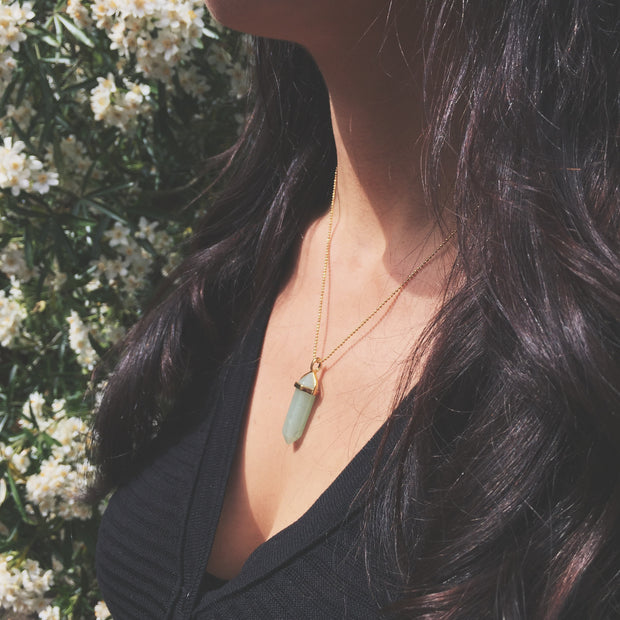 gold aventurine necklace, green healing necklace, green crystal necklace, Gold Luck Necklace, Cosmic Crystals, healing crystal jewellery, crystal pendants uk, healing crystals, meaningful jewellery