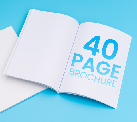 40 Pages - A5 Brochure
