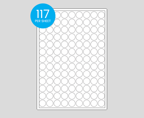 Printed Circle Stickers - 19mm