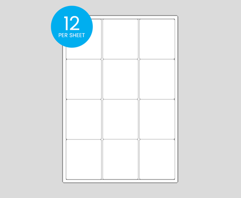 Printed Rectangle Stickers - 63 x 72mm