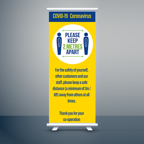 Social Distancing Roller Banners Design 2