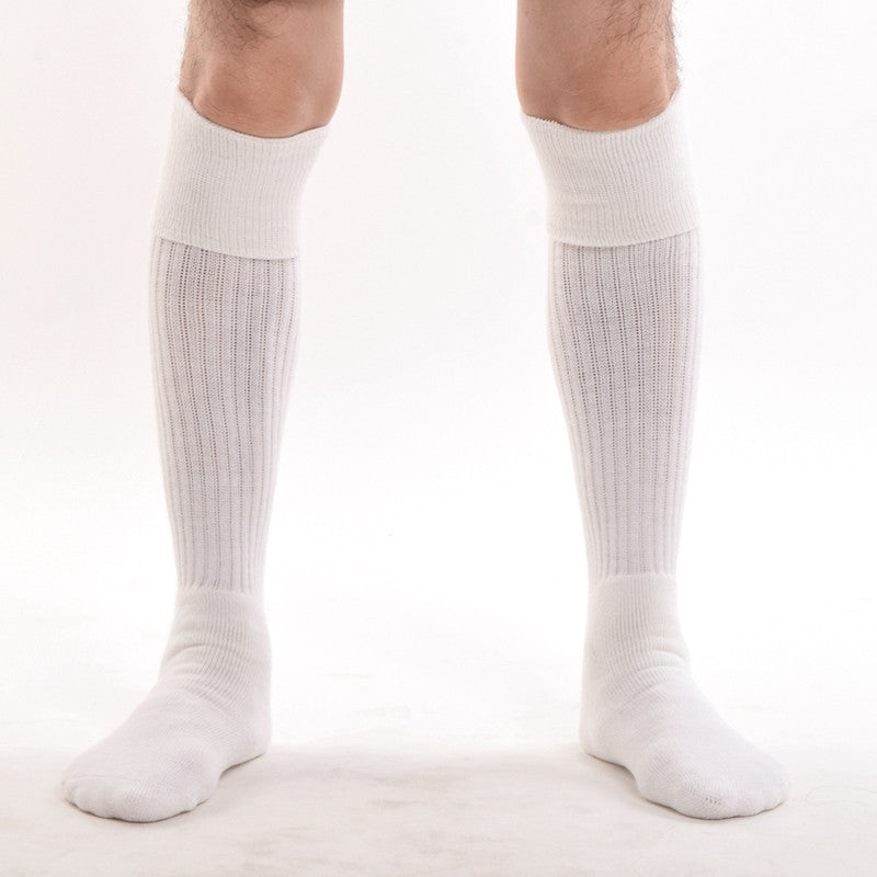 Men Kilt Socks White Black Knee Length Hose