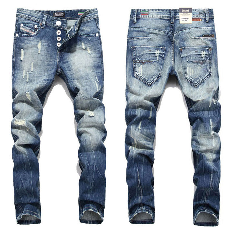 2016 New Hot Sale Fashion Men Jeans Dsel Brand Straight Fit Ripped