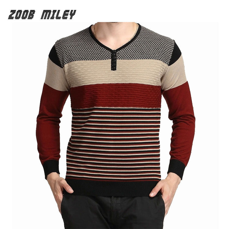 2016 Autumn Winter Mens Casual Sweaters Soft Warm Knitwear Pullover