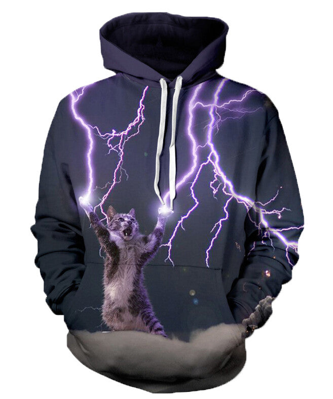 2017 Fashion Thundercat Sweatshirt Cat Lightning Thunder 3D Hoodie