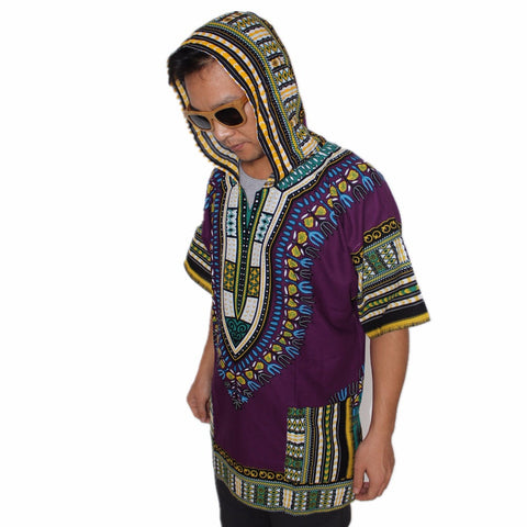 Dashiki Hoodies Loose African Hooded Dashiki Fabric Hood 100% Cotton Fashion Clothes Unisex Kimono