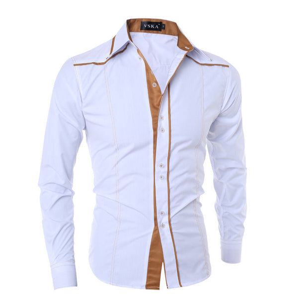 2017 New Arrival Brand Men Shirt Fashion Long Sleeve Dress Shirts
