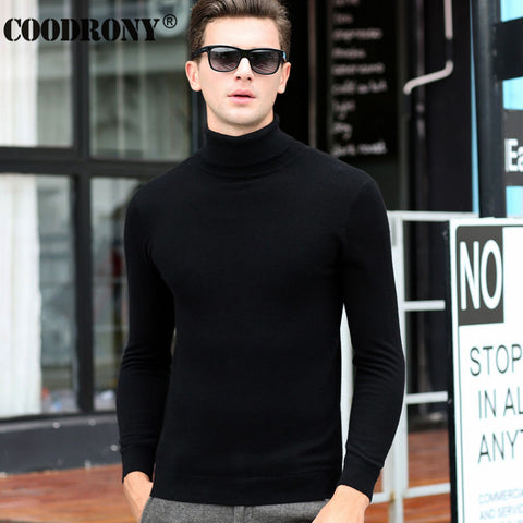 Free Shipping Fashion Classic Solid Color Turtleneck Sweater Men Winter Warm Pullover Men Slim Fit Cashmere Woolen Sweaters 6347