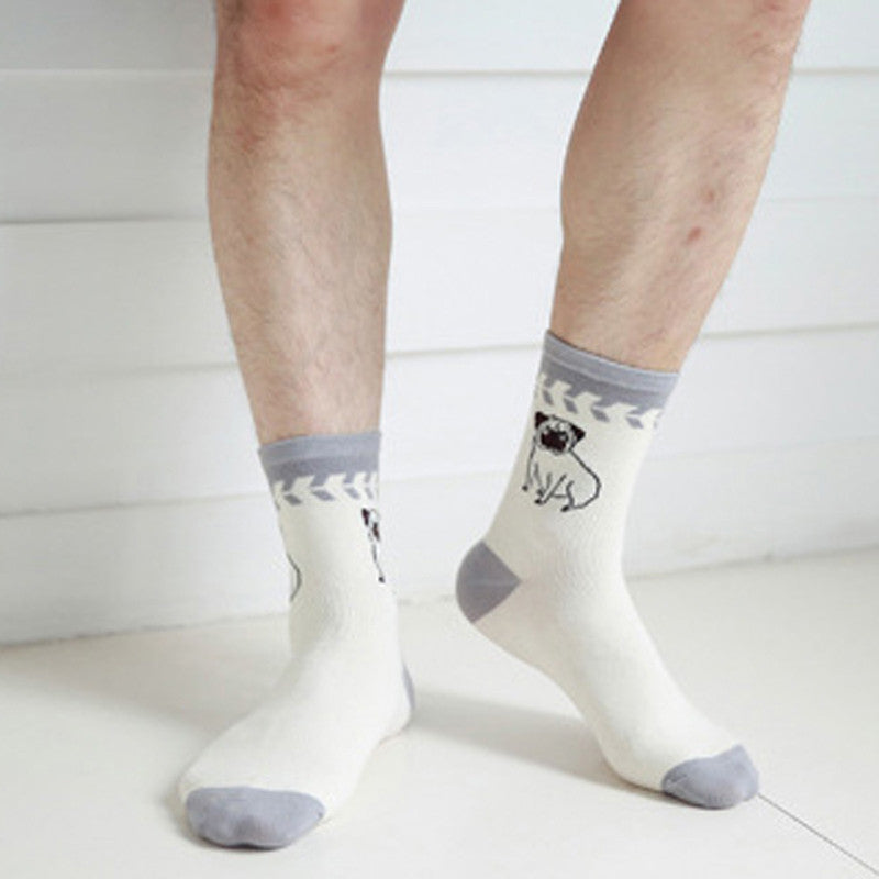 1PairCotton Blends Funny Socks For Mans Happy Christmas Socks