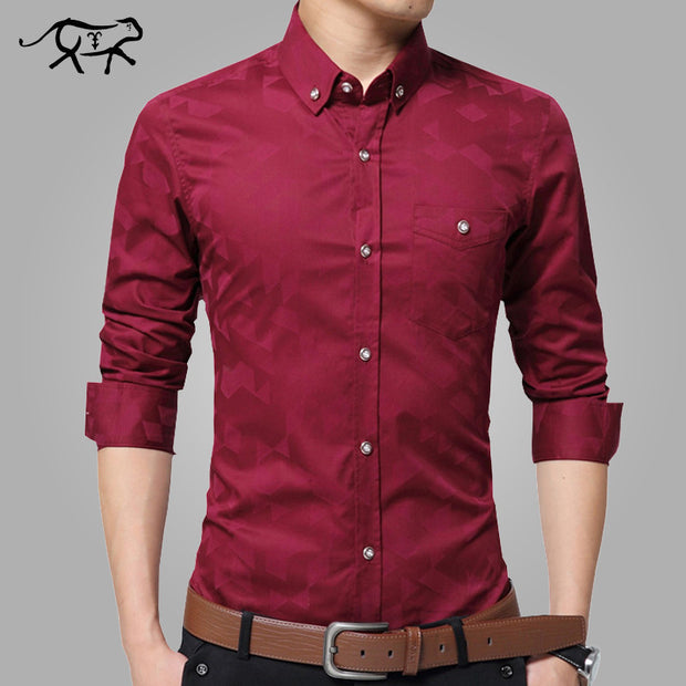 Spring Brand New Men Shirt Male Dress Shirts Men's Fashion Casual Long