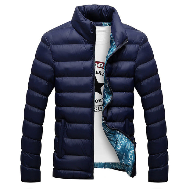 Winter Jacket Men 2016 Fashion Stand Collar Male Parka Jacket Mens