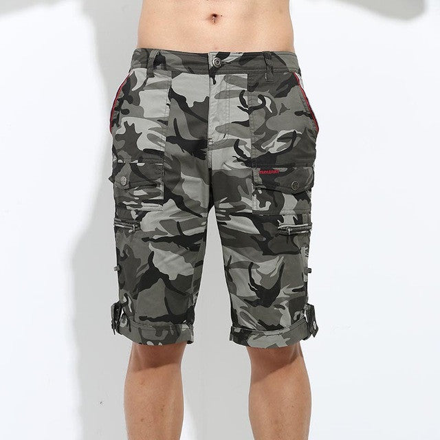 2016 Free Army Brand Quality Summer Camo Shorts Mens Casual