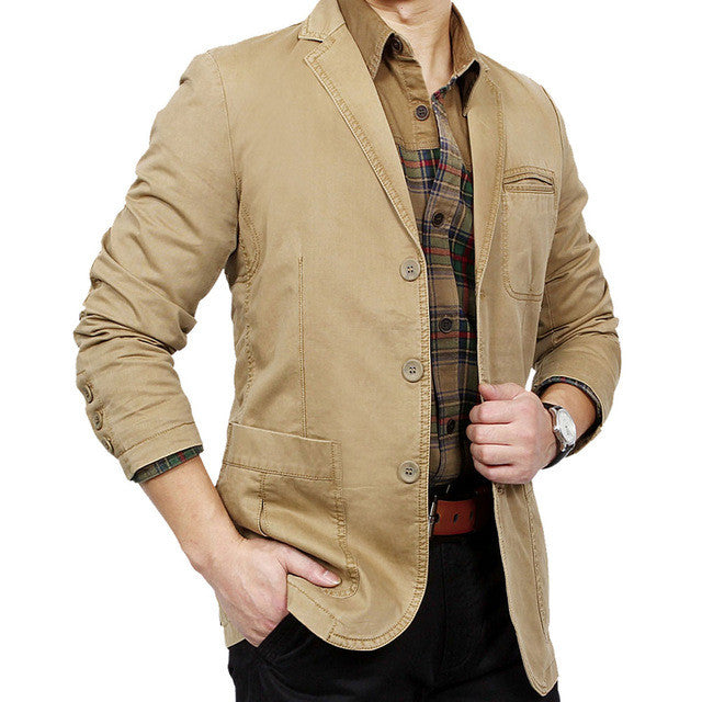2016 Autumn New 100% Cotton Men Blazer Fashion Slim casual blazers for