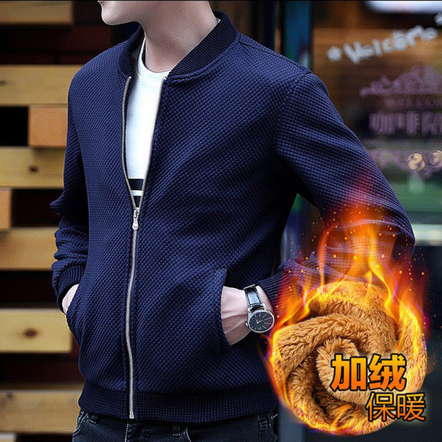 2016 Fashion Brand Jacket Men Clothing Slim Fit High-Quality Casual