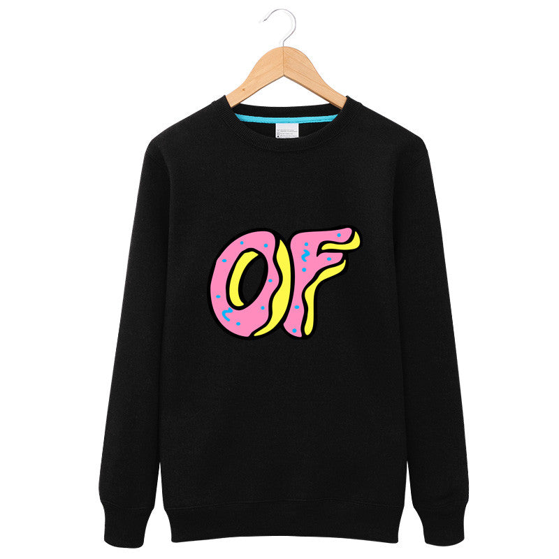 2016 Winter Fashion O Neck Tops OFWGKTA Odd Future PFWGKTA Donuts