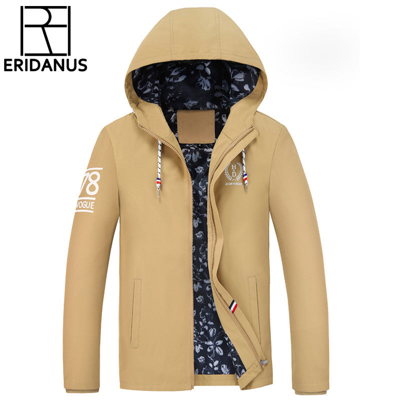 2016 Spring And Autumn New Men's Jacket Fashion Hooded Men Casual Thin