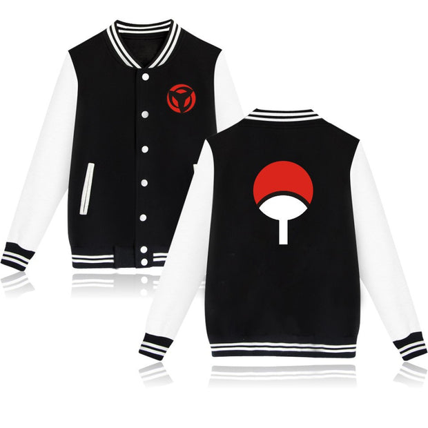 High Quality Hip Hop Baseball Jacket NARUTO Design Capless