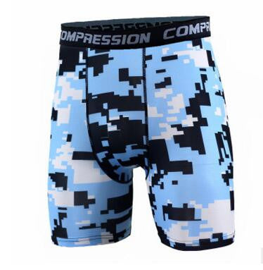 2016 Yellow Newest Summer Army Compression Tights Shorts Men Spandex
