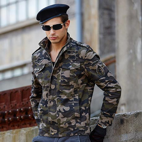 2016 Camouflage Men Army Jackets and Coat Autumn Winter casual