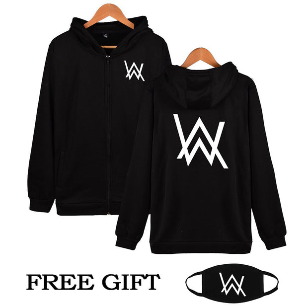 Hip Hop Streetwear Alan Walker DJ Hoodies High Quality Hooded
