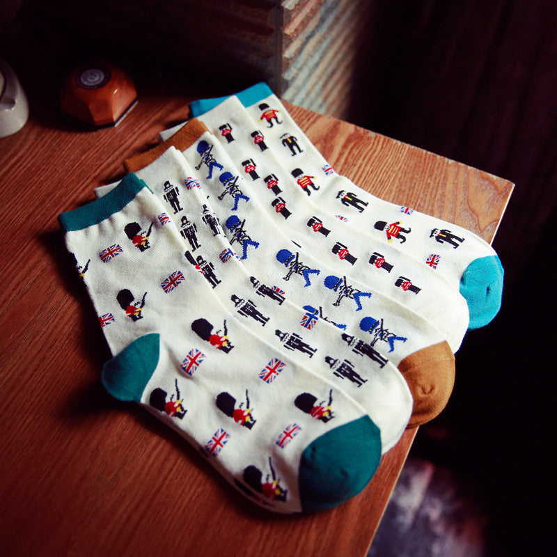 2016 High Quality Autumn Winter Cotton Men's Socks Cute Cartoon