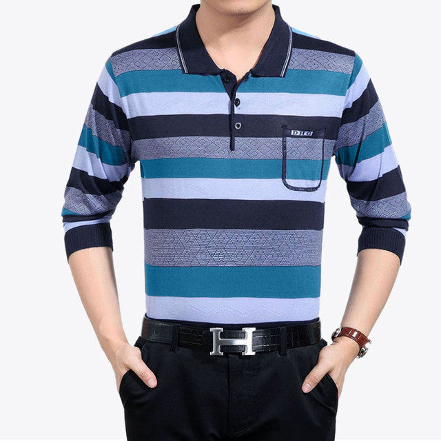 2017 casual long sleeve business mens shirts male striped fashion