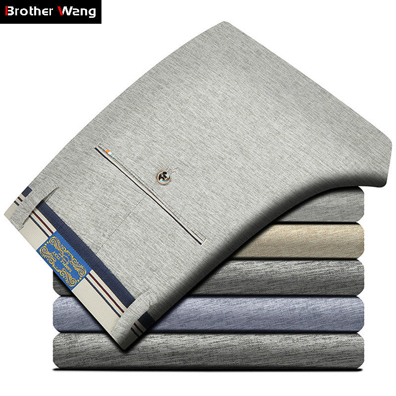 Brother Wang Summer New Men's Brand Casual Pants Male Elasticity