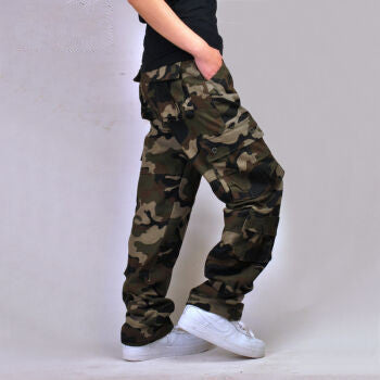 2017 cargo pants men tactical loose Camouflage Army military pants men