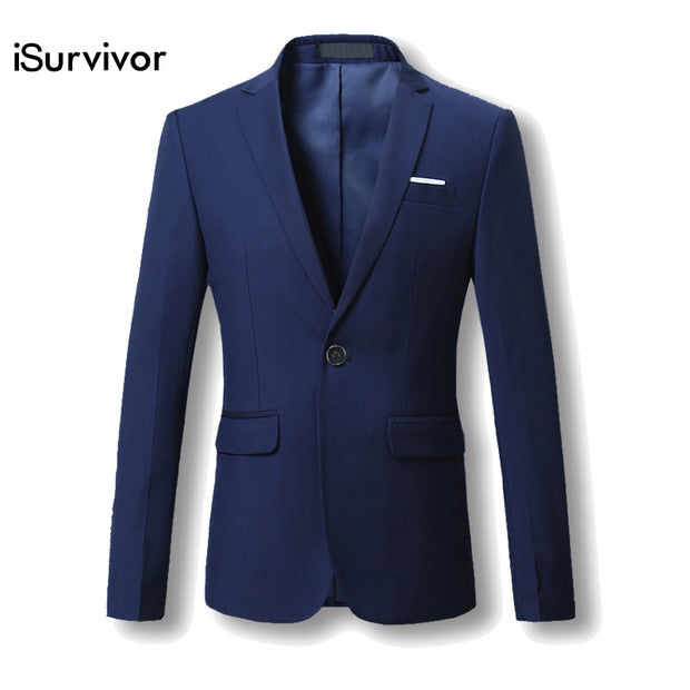 Men Blazer 2017 New Suit Men 5 Colors Casual Jacket Terno Masculino