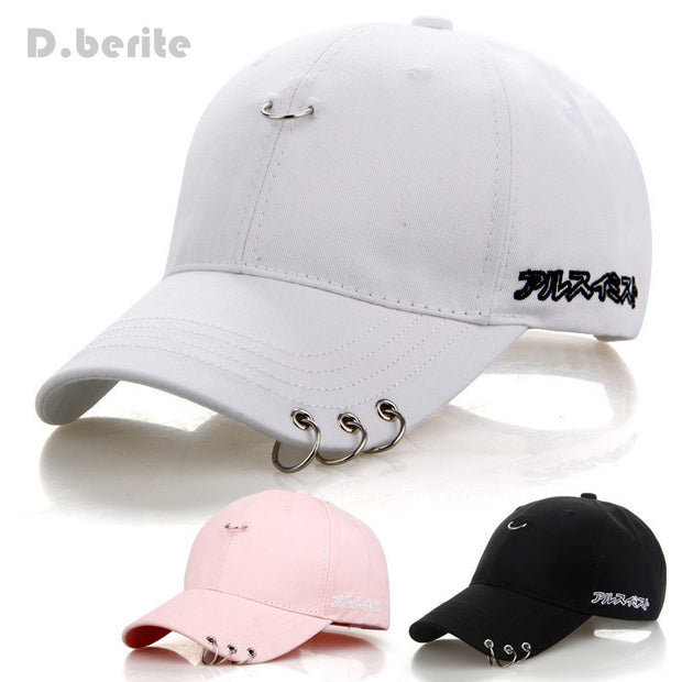 Mens Snapback Hats BTS Jimin Fashion K Pop Iron Ring Hats Adjustable