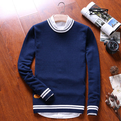 2016 New Autumn & Winter Top Quality cotton  O-neck Solid men Sweaters