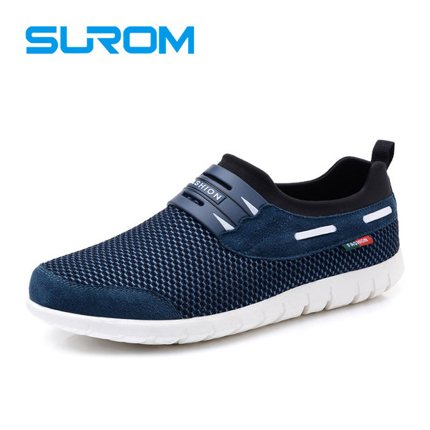 SUROM Mesh Breathable Mens Casual Shoes 2017 Summer Hot Sale Boat