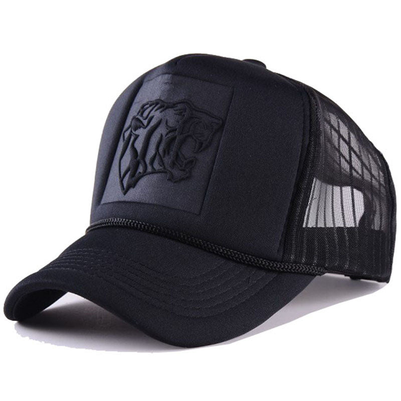 2017 Hip Hop Black leopard Print Curved Baseball Caps Summer Mesh