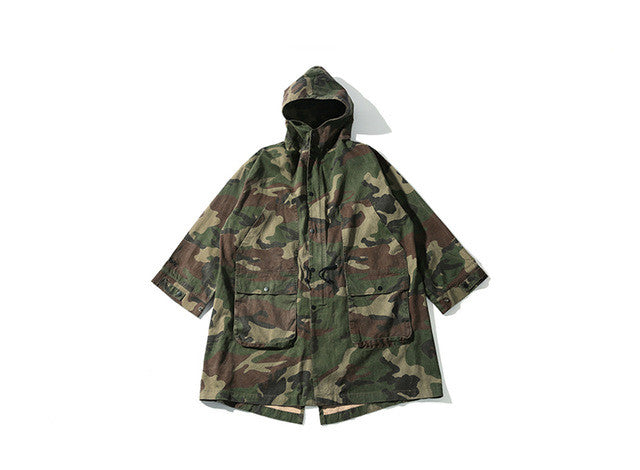 2017 Autumn Winter Overcoat Men Windbreaker Trench Coats Loose Army