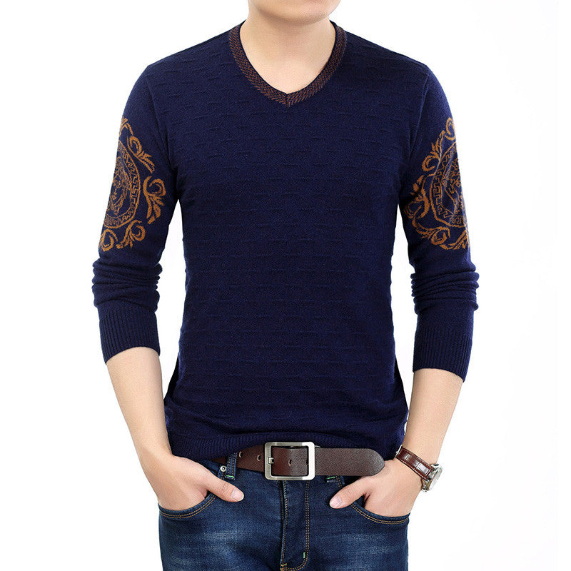 2016 new 100% cashmere men long-sleeved V-neck casual sweaters