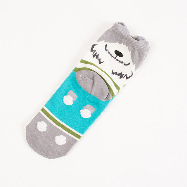 1Pair Men's Socks 3D Animals Patterned Socks Mens Cute Funny Novelty