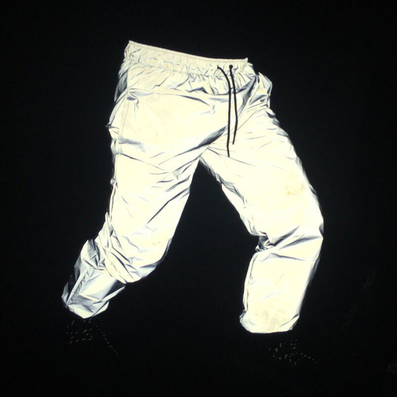 Reflective Pants Men 2017 Brand Hip Hop Dance Fluorescent Trousers