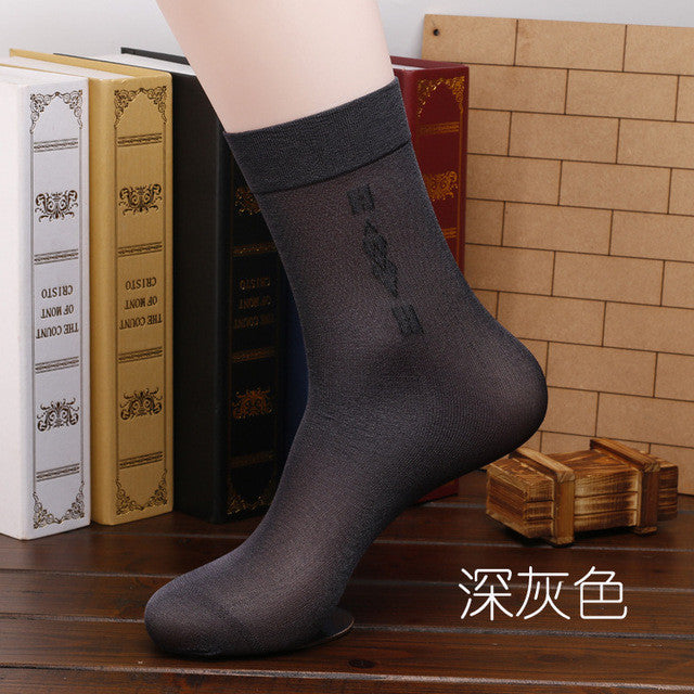 10 Pair/lot High Quality Brand Men Business Casual  Silk Socks