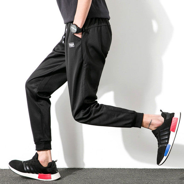Mwxsd brand Men Casual cotton Joggers long sporting pants male
