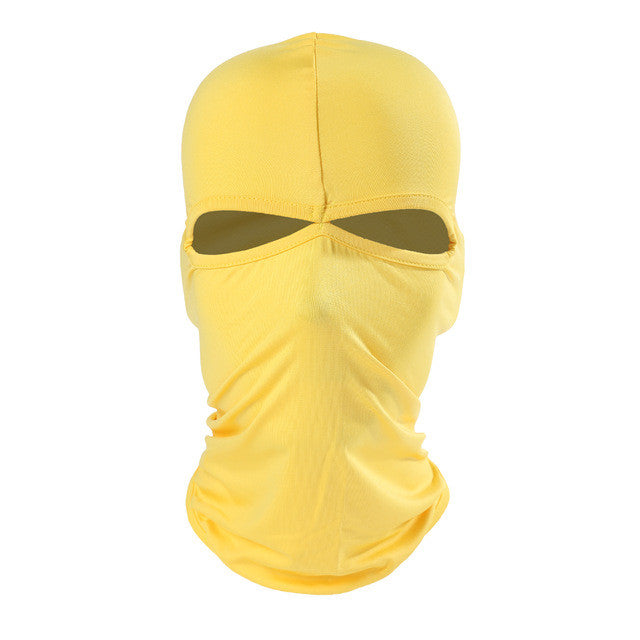 2 Hole Lycra Balaclava Full Face Mask Windproof Hat Cap Tactical