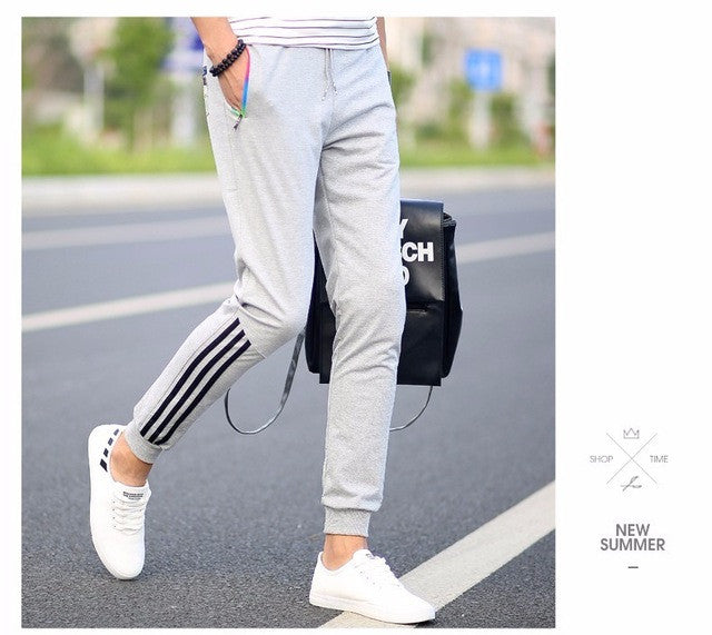 Autumn Casual Pants Men Skinny Mens Sweat Pants Male Cotton Sportswear