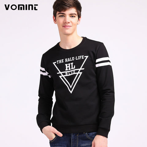 VOMINT Autumn Mens Sweatshirt Hoodie Fashion Inverted Triangle Printing Fashion Campus Style Regular Shirts H6QI2N93
