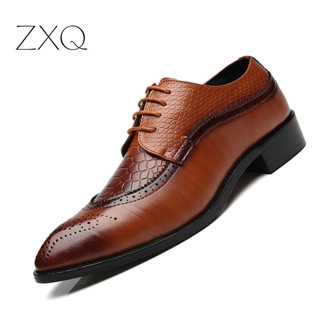 ZXQ New Arrival British Style Men Classic Business Formal Shoes