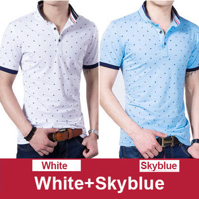 Thoshine Brand 2017 Summer 95% Cotton Men Polos 2 pcs per lot Male