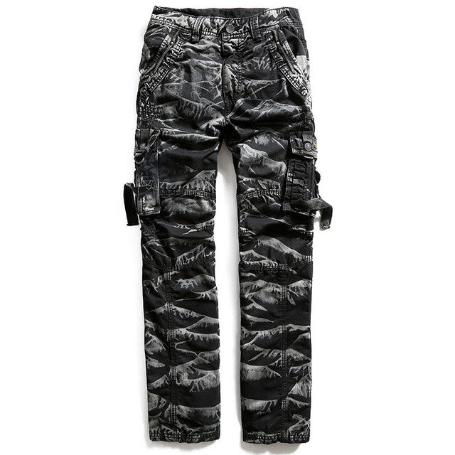 100% Cotton Army Casual Pants Camouflage Multi Pocket Cargo Pants