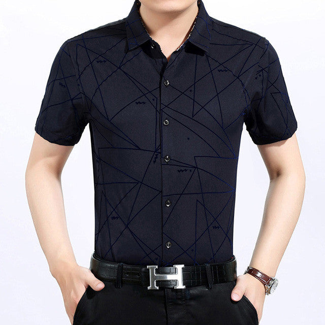 2017 male fashion brand casual business slim fit men shirt camisa